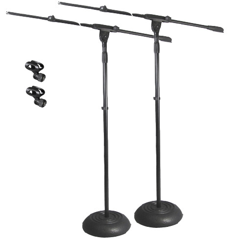 Podium Pro Adjustable Steel Microphone Stands with Booms and EZ Mic Clips 2 Stand Set MS1SET5-2S at Sears.com