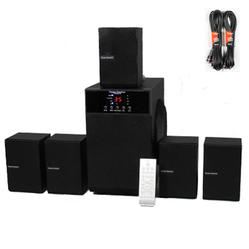 Theater Solutions 5.1 Speaker System Home Surround Sound with Two 25' Extension Cables TS509-2 at Sears.com