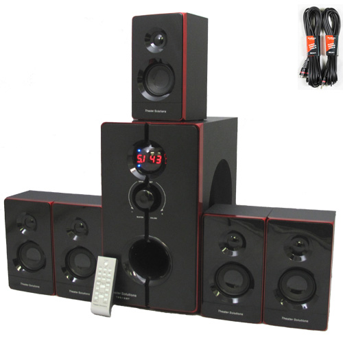 Theater Solutions 5.1 Home Theater 800 Watt Speaker System with Built in Bluetooth and 2 Extension Cables TS516BT-2 at Sears.com
