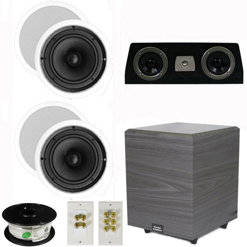 "Theater Solutions 5.1 Home Theater 8"" Ceiling Speakers Set with Center, 8"" Powered Sub and More TS80CC51SET2 at Sears.com"