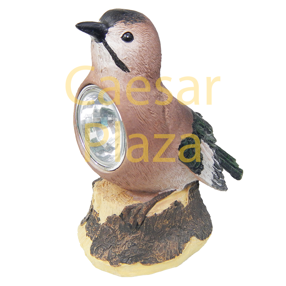 2 solar outdoor bird light garden decoration led post cap for Decorative birds for outside