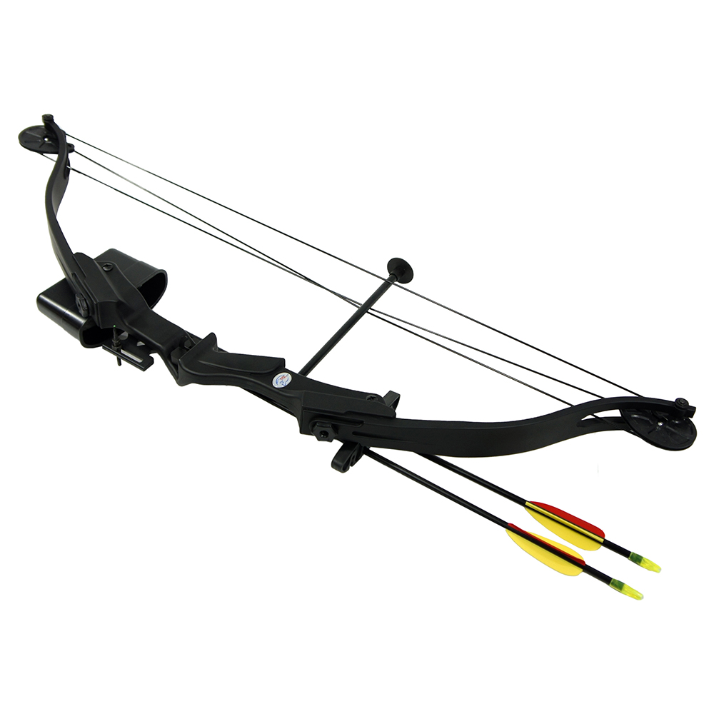 25 lb black archery hunting compound bow quiver 2 30 for Compound bow fishing