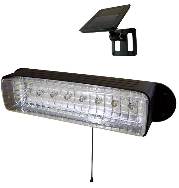 New Outdoor Garden 8 LED Solar Shed Eaves Work Light Lamp Garage ...