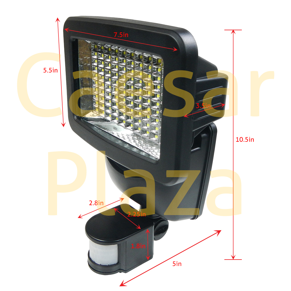 100 SMD LED Solar Motion Sensor Security Light Outdoor Wall Detector Flood Spot