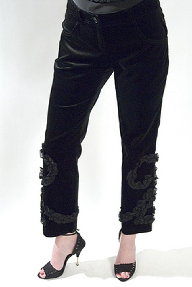 Ungaro Fuchsia Crop Velvet Womens Pants Black Size 44 at Sears.com