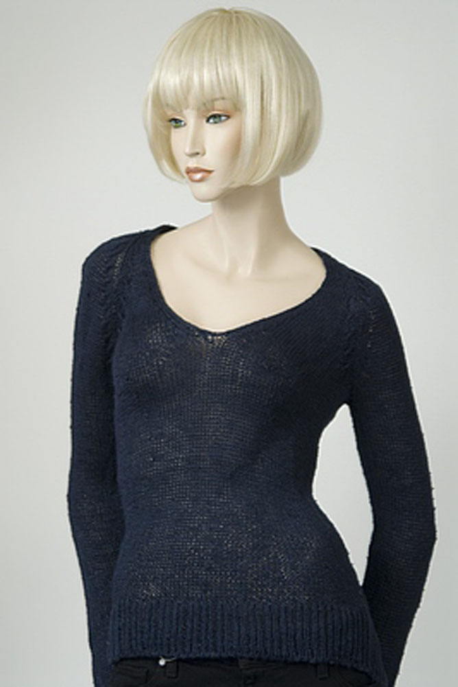 Dondup Madras V Neck Womens Sweater Navy Blue Size L at Sears.com