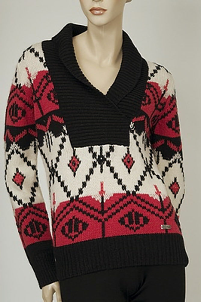 Conte Of Florence V Neck Womens Sweater Multi Size M at Sears.com