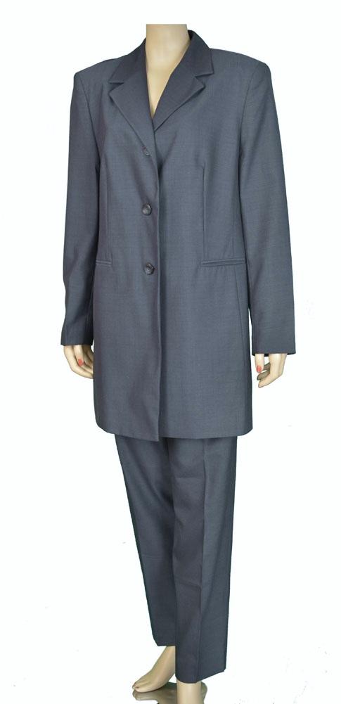 YOUR 6TH SENSE Long Jacket And Pants Slacks 2 Piece Womens Suits Blue Size 46 at Sears.com