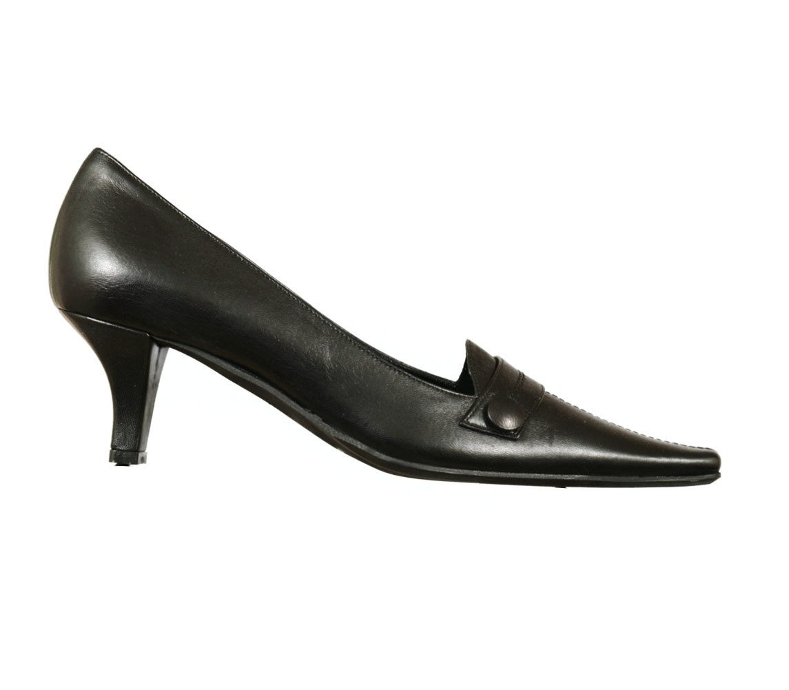 Anna Cortese A1077 Nappa Mid Heel Leather Pumps Womens Shoes Black Size 6 at Sears.com