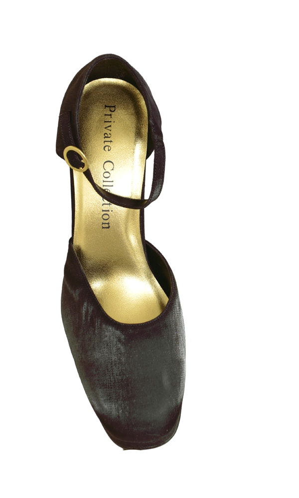 Private Collection Blossom High Heel Fabric Pump Womens Shoes Black Size 9 at Sears.com