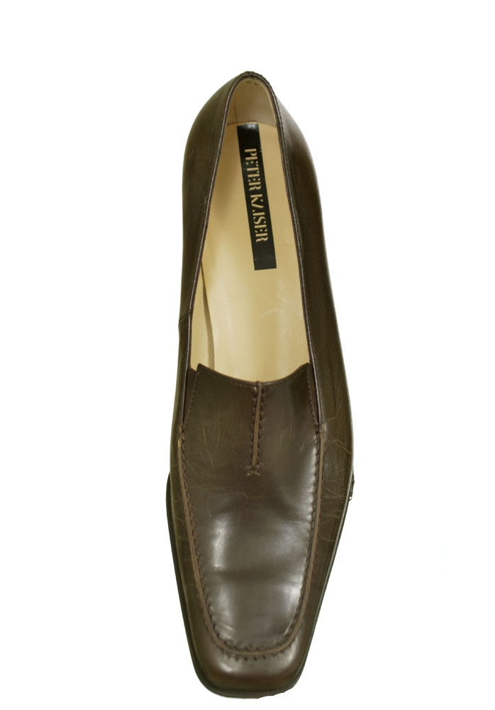 Peter Kaiser Madlen Leather Low Heel Loafer Womens Shoes Brown Size 8 at Sears.com