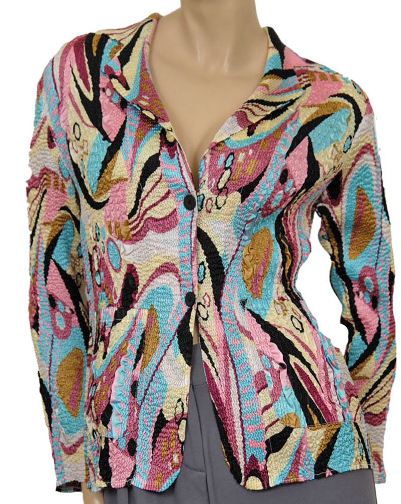 Blazer Womens Jackets Rose Multi Size S