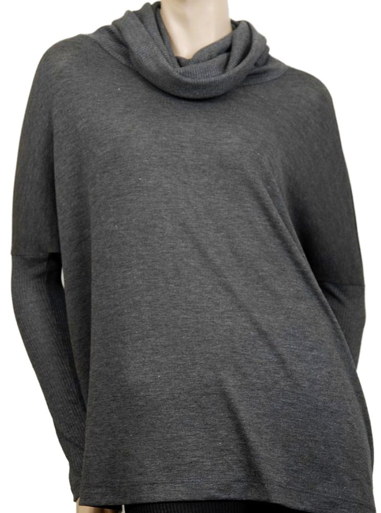 LUSH Cowl Neck Womens Sweaters Charcoal Gray Size S at Sears.com
