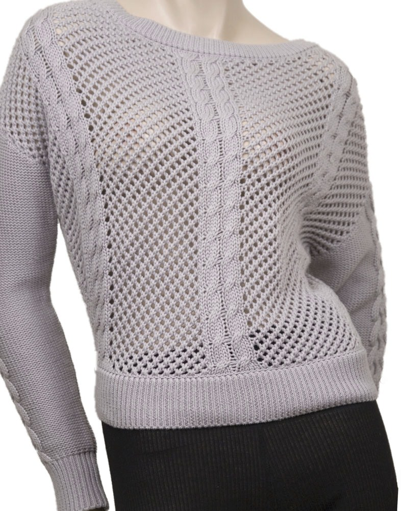 Patterson J Kincaid Zip Back Crew Womens Sweaters Gray Size S at Sears.com