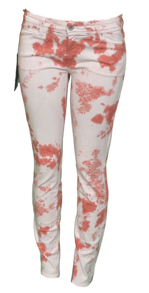 Sinclair Mfgrp ELON Tie Dye Skinny Womens Jeans BER White Red Size 30 at Sears.com