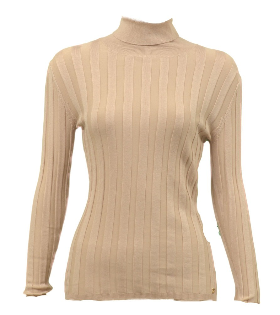 Apart� Ribbed Turtleneck L/S Womens Sweaters Tan Size 6 at Sears.com