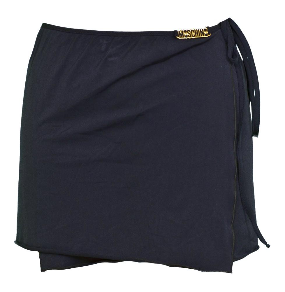 new moschino mare wrap skirt womens swimwear navy blue