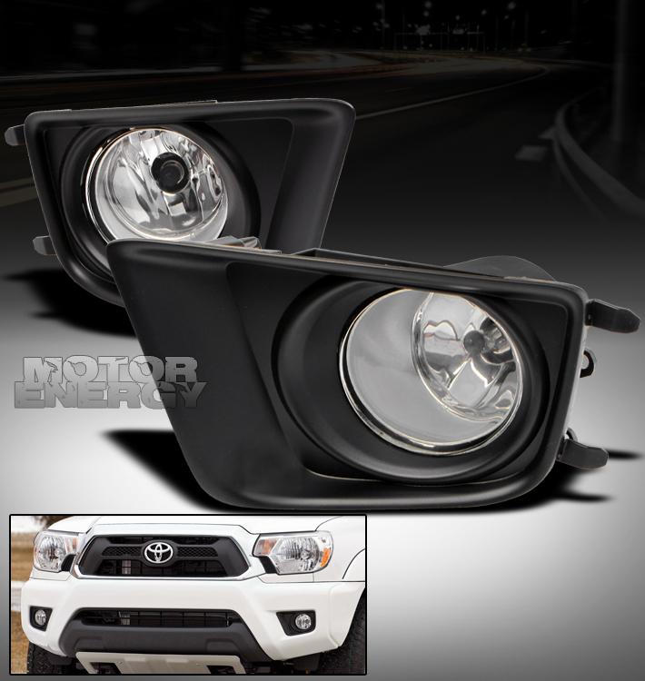 details about 2012 2014 toyota tacoma bumper clear fog lights lamps. Black Bedroom Furniture Sets. Home Design Ideas
