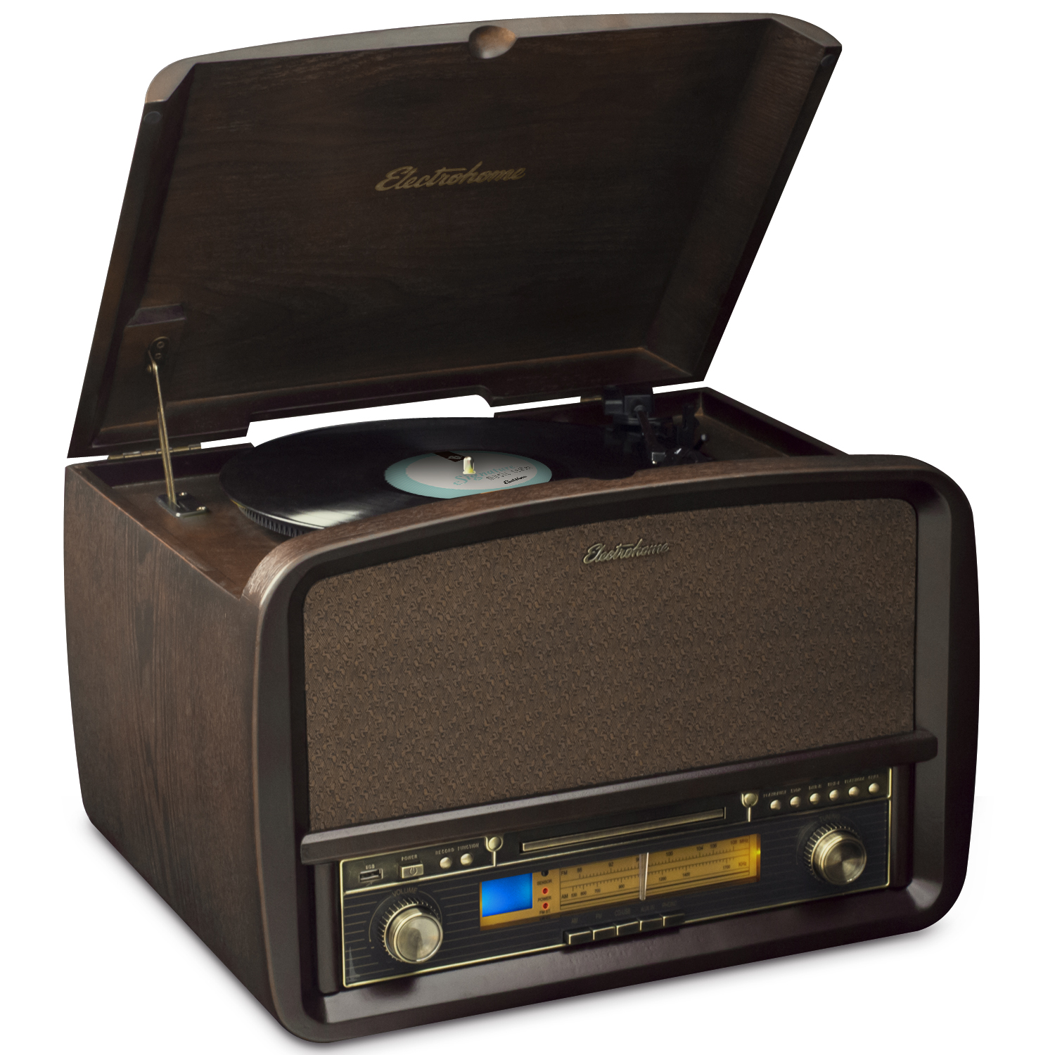 Electrohome® Signature™ Retro Hi-Fi Stereo System with Record Player