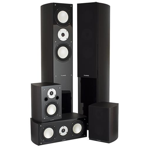 Fluance High Performance 5 Speaker Surround Sound Home Theater System - Dark Walnut