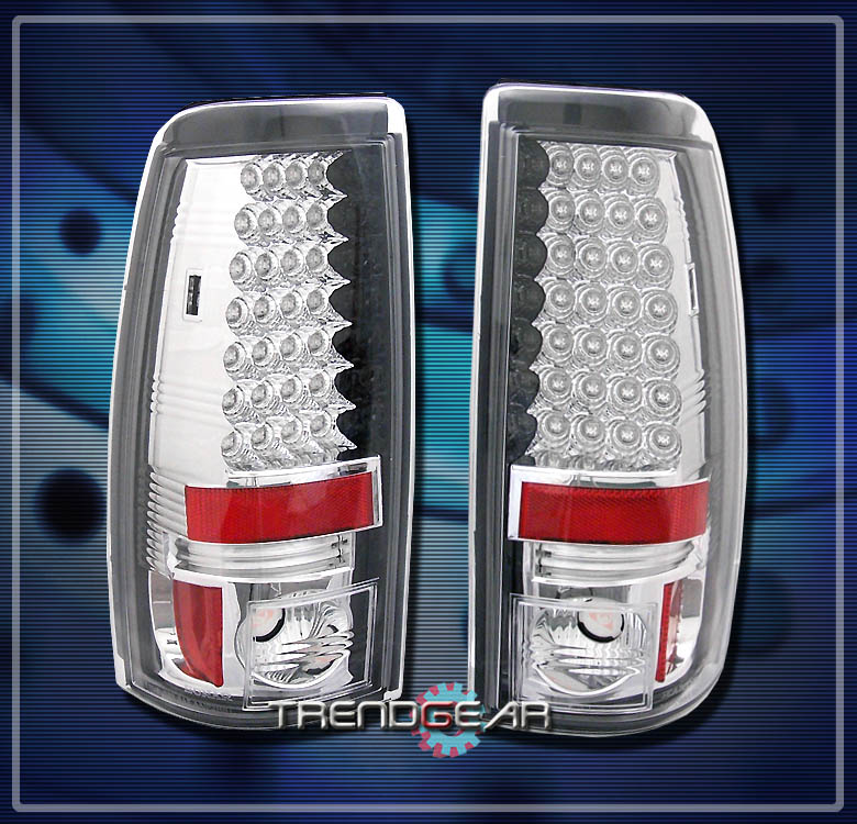 chevy silverado gmc sierra led tail lights rear lamp 2004 2005 2500 hd. Black Bedroom Furniture Sets. Home Design Ideas
