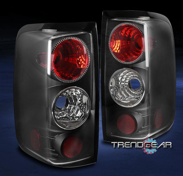 ford f 150 pickup truck tail brake light lamp black 2005 2006 2007 set. Black Bedroom Furniture Sets. Home Design Ideas