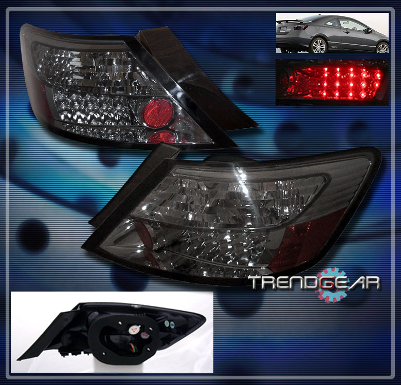 2006 2011 Honda Civic Coupe Led Tail Brake Lights Lamp