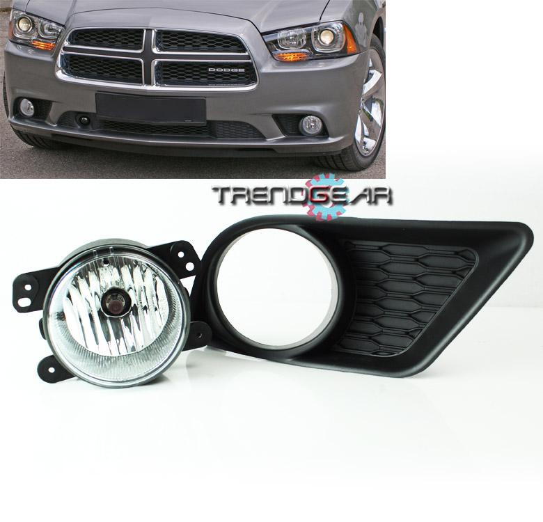 2011 2012 2013 2014 dodge charger bumper chrome fog lights. Black Bedroom Furniture Sets. Home Design Ideas