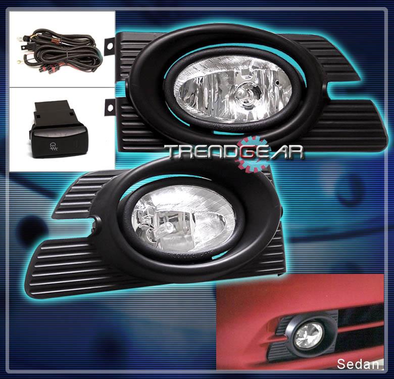 honda accord dx sedan dr jdm bumper driving chrome fog lightsharness ebay