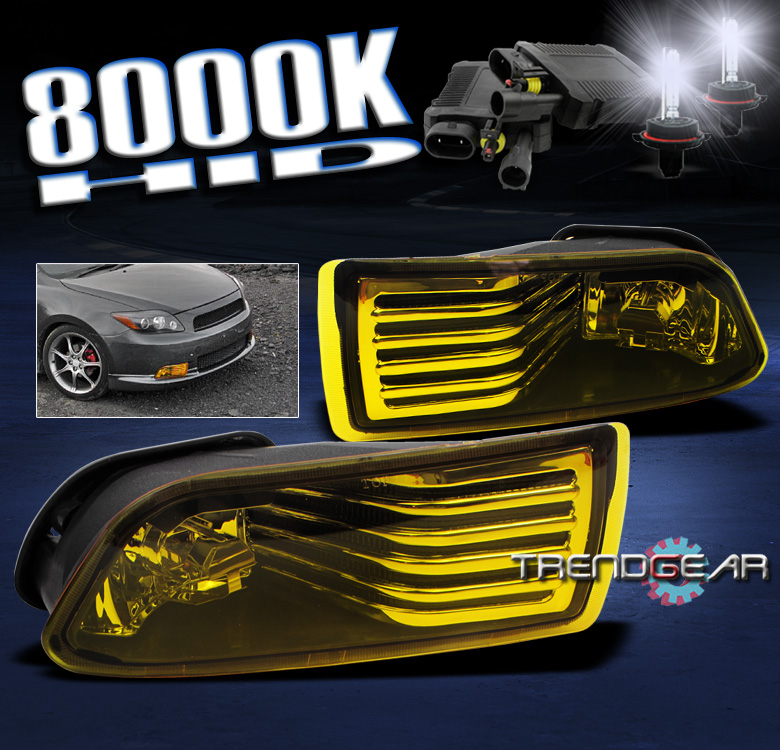 style replacement fog lights with 8000k hid conversion kit smoke