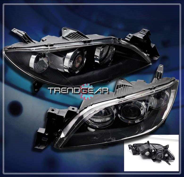2008 Mazda6 4 Door Oem Style Spoiler: 2004-2008 MAZDA 3 MAZDA3 SEDAN 4DR PROJECTOR HEADLIGHT LAMP BLACK 2005 2006 2007