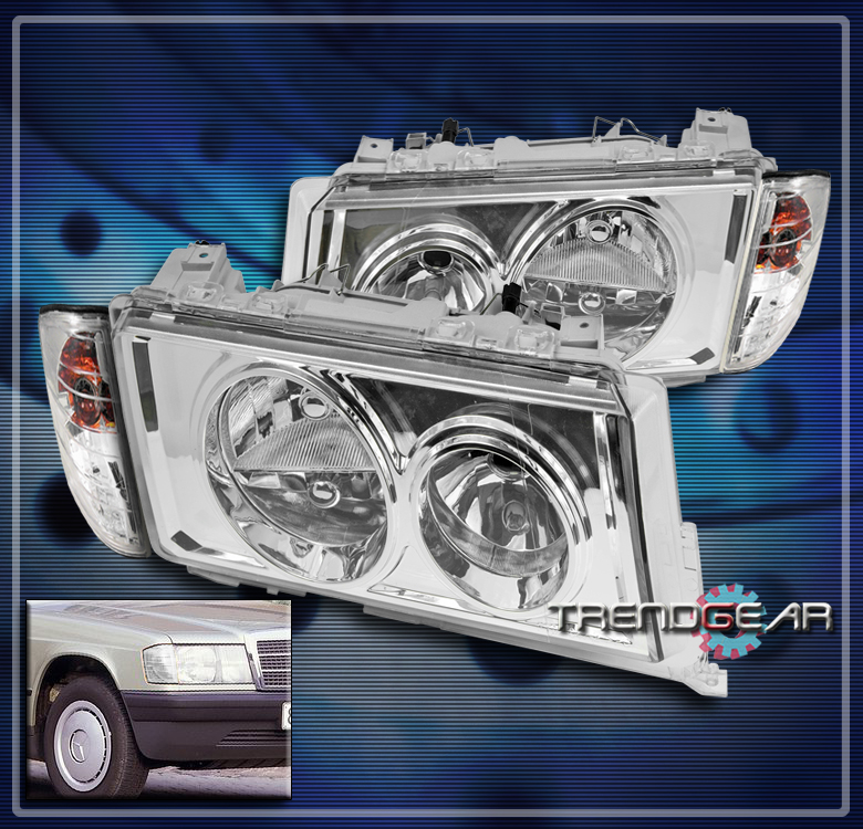 1982 1993 mercedes benz w201 c class 190d 190e crystal for Mercedes benz 190e headlights
