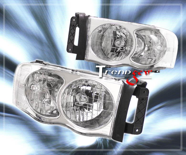 2002 2005 dodge ram pickup crystal headlight lamp clear. Black Bedroom Furniture Sets. Home Design Ideas