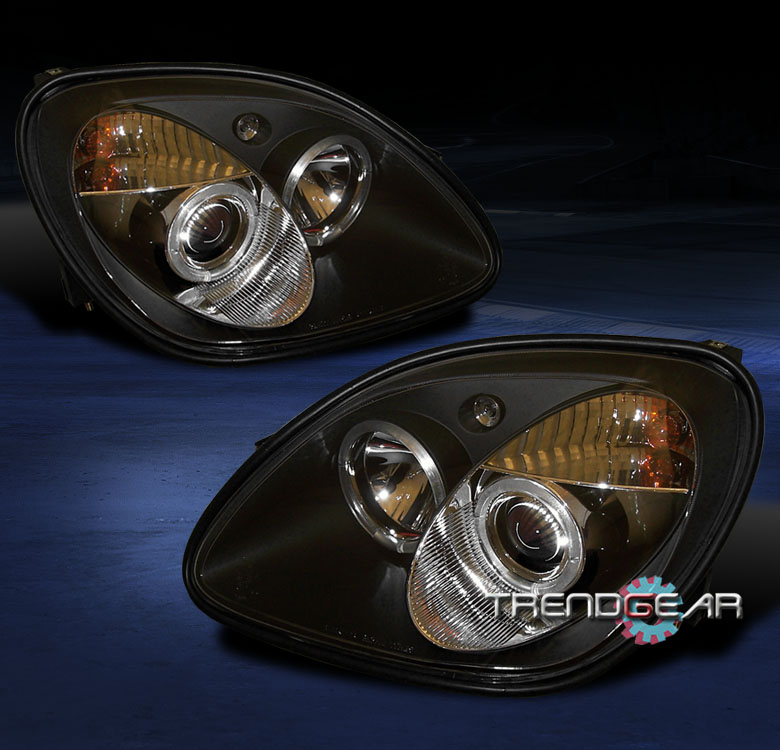 1998 2004 mercedes benz r170 slk halo projector headlights for Mercedes benz projector lights