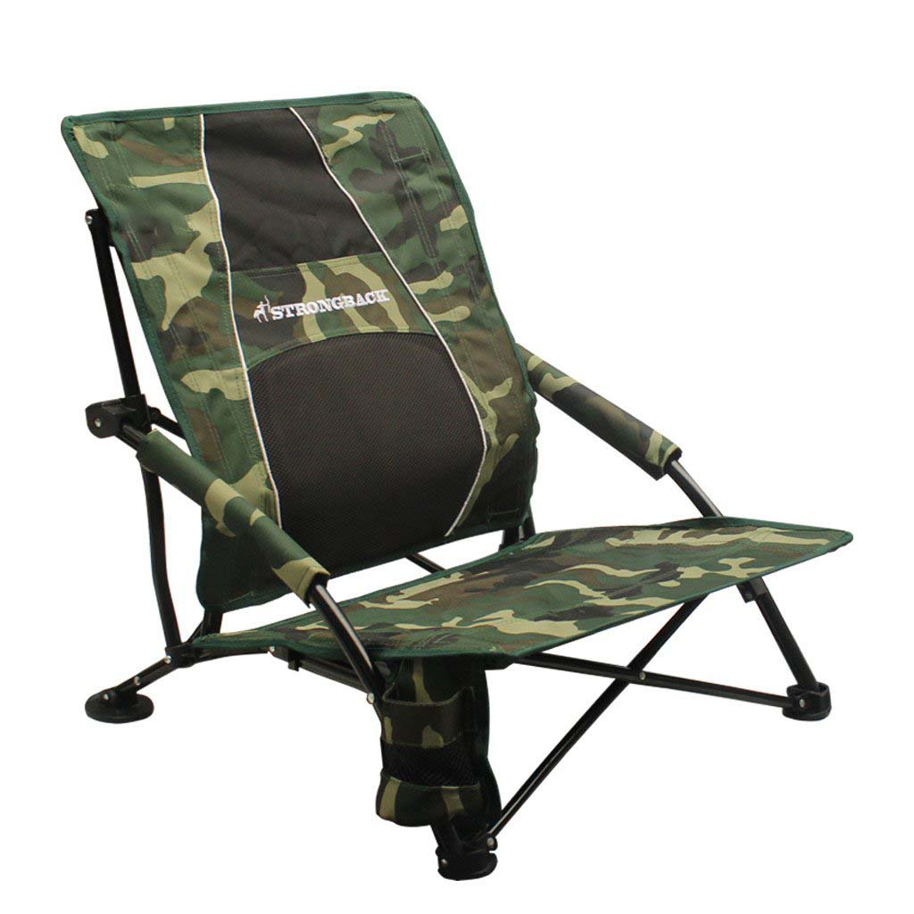 Strongback Low Gravity Folding Beach Chair With Superior Back Support Ebay