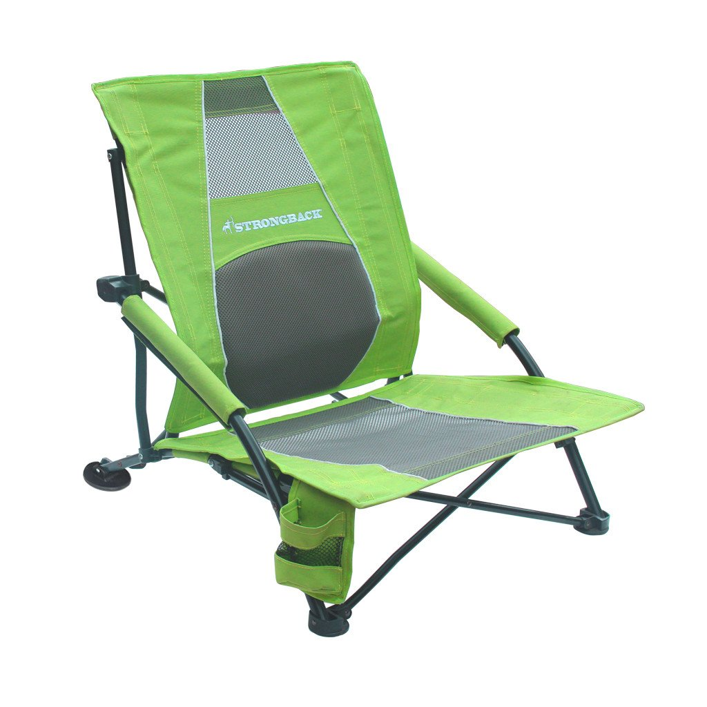 Beach chair back - Strongback Low Gravity Folding Beach Chair With Superior
