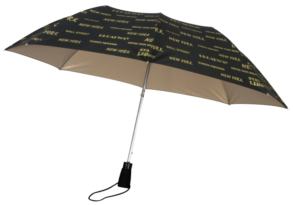leighton nyc landmarks auto open wind resistant uv protection umbrella ebay. Black Bedroom Furniture Sets. Home Design Ideas