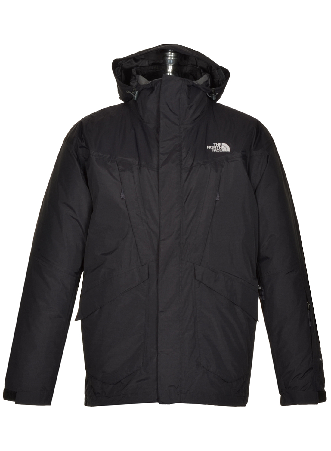 349 the north face hyvent mens landsat triclimate 3 in 1 jacket hoodie black. Black Bedroom Furniture Sets. Home Design Ideas