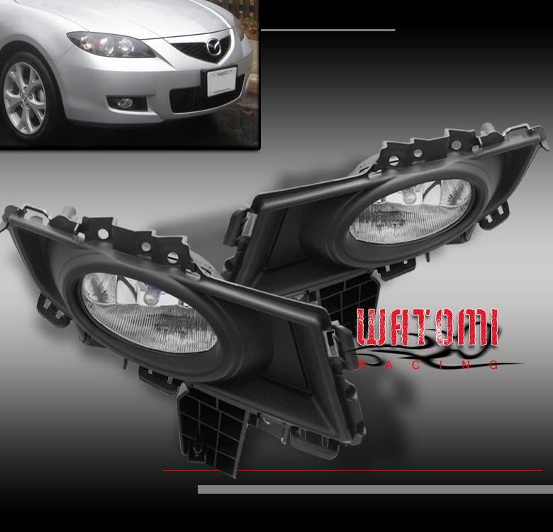 2008 Mazda6 4 Door Oem Style Spoiler: 07 08 MAZDA 3 MAZDA3 AXELA GS SEDAN JDM BUMPER CLEAR FOG LIGHTS LAMPS+OEM SWITCH