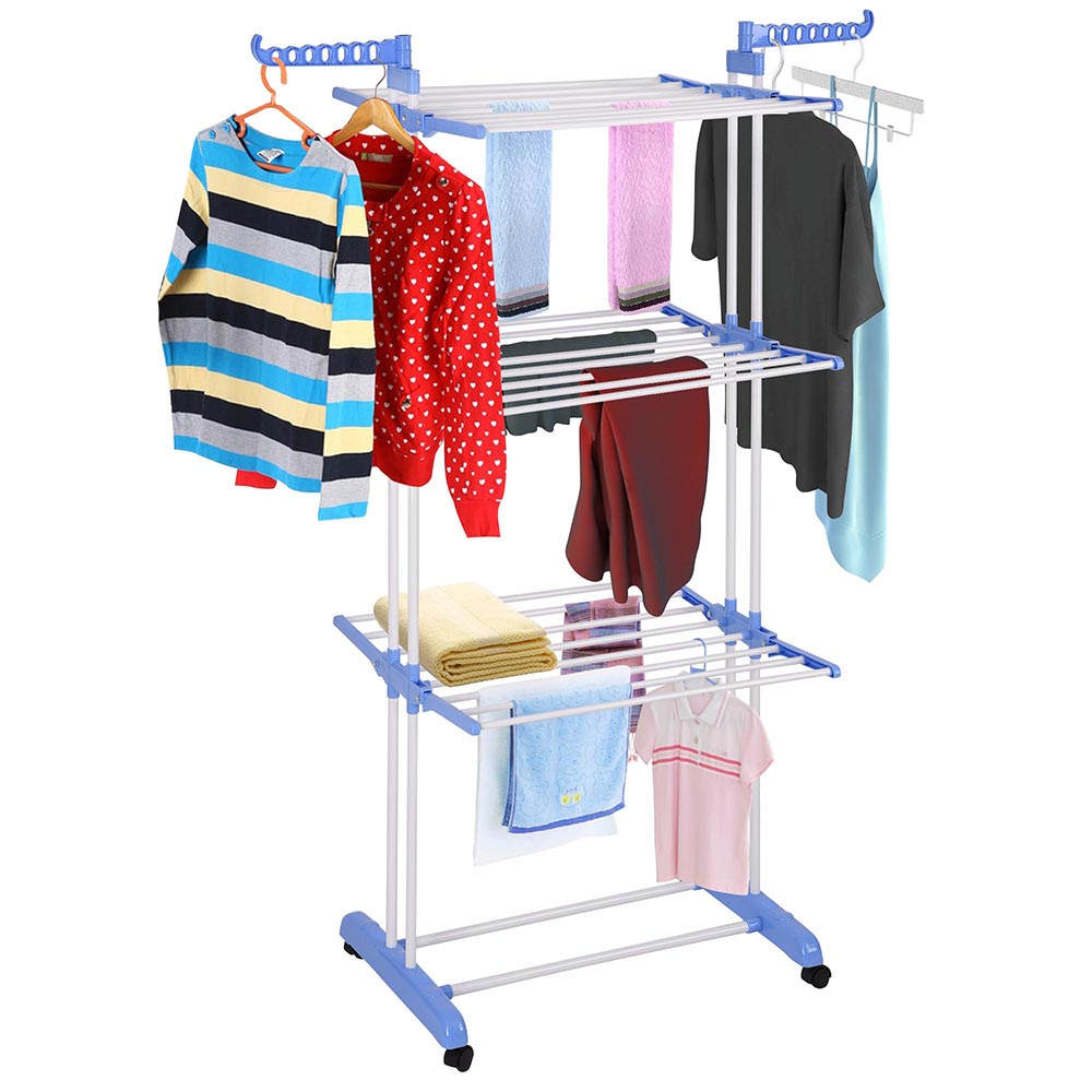 66 laundry clothes storage drying rack portable folding dryer hanger heavy duty ebay. Black Bedroom Furniture Sets. Home Design Ideas