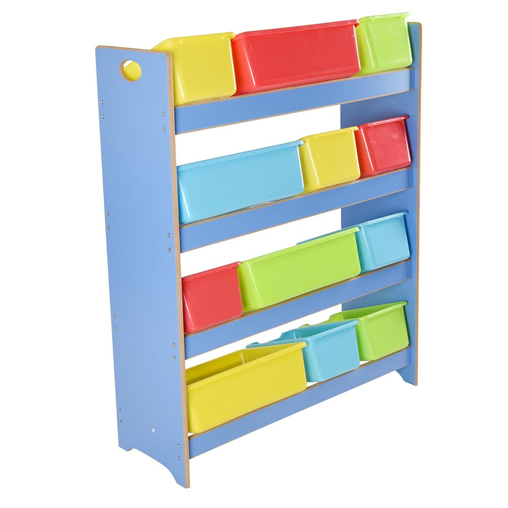 bin organizer kids childrens storage box playroom bedroom shelf drawer
