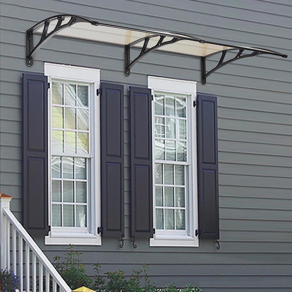 Door window outdoor awning hollow sheet sun shade cover for Sunlight windows