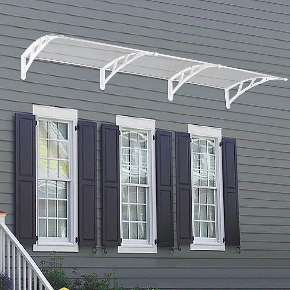 Window Canopy Awnings : Door window outdoor awning hollow sheet sun shade cover