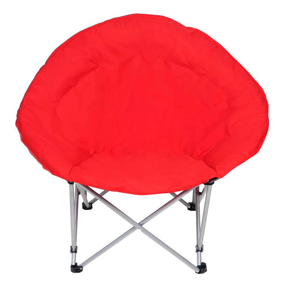 Microsuede Folding Padded Saucer Moon Chair Lagre Oversized Living Room Seati