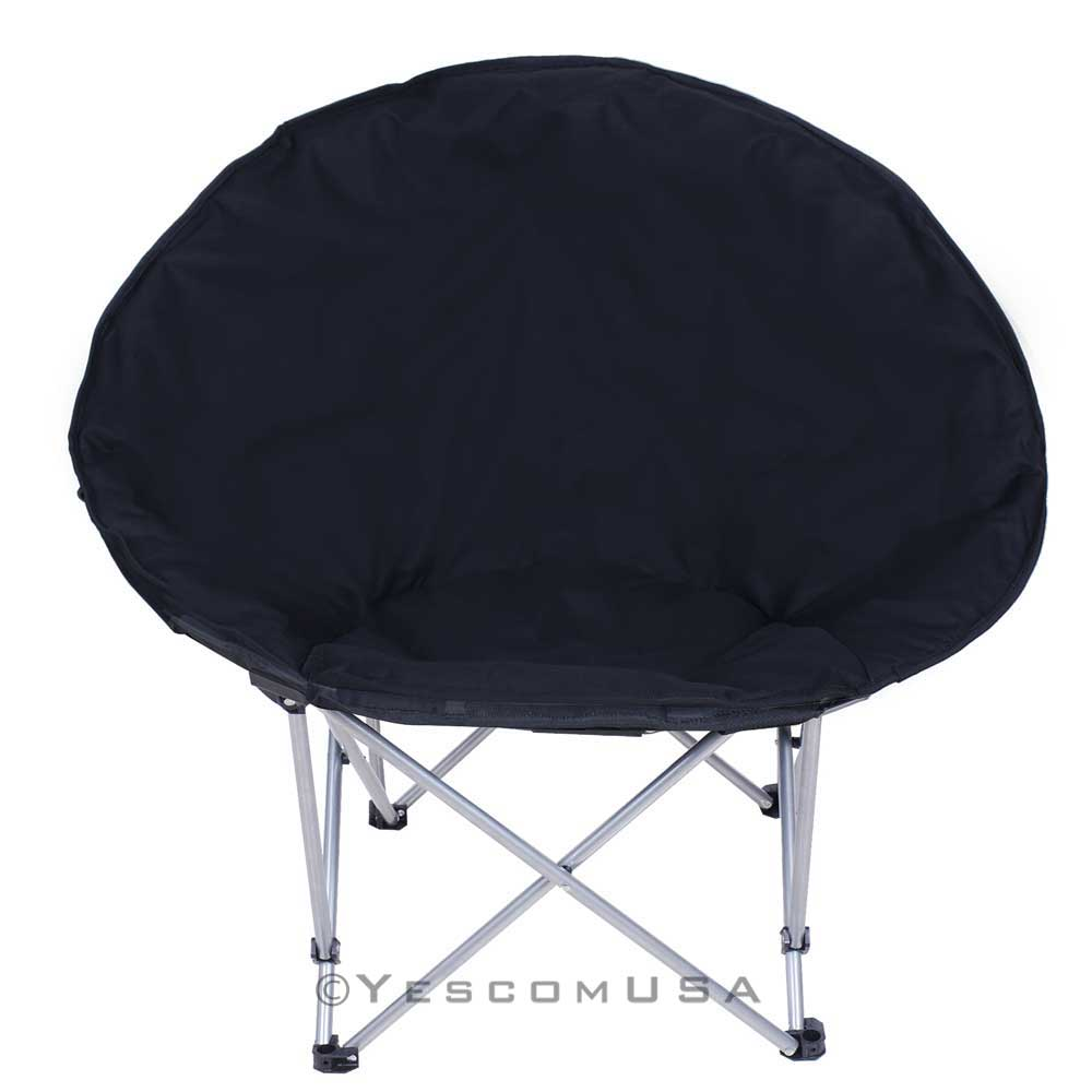 Microsuede folding padded saucer moon chair lagre oversized living room seating ebay Extra large living room chairs