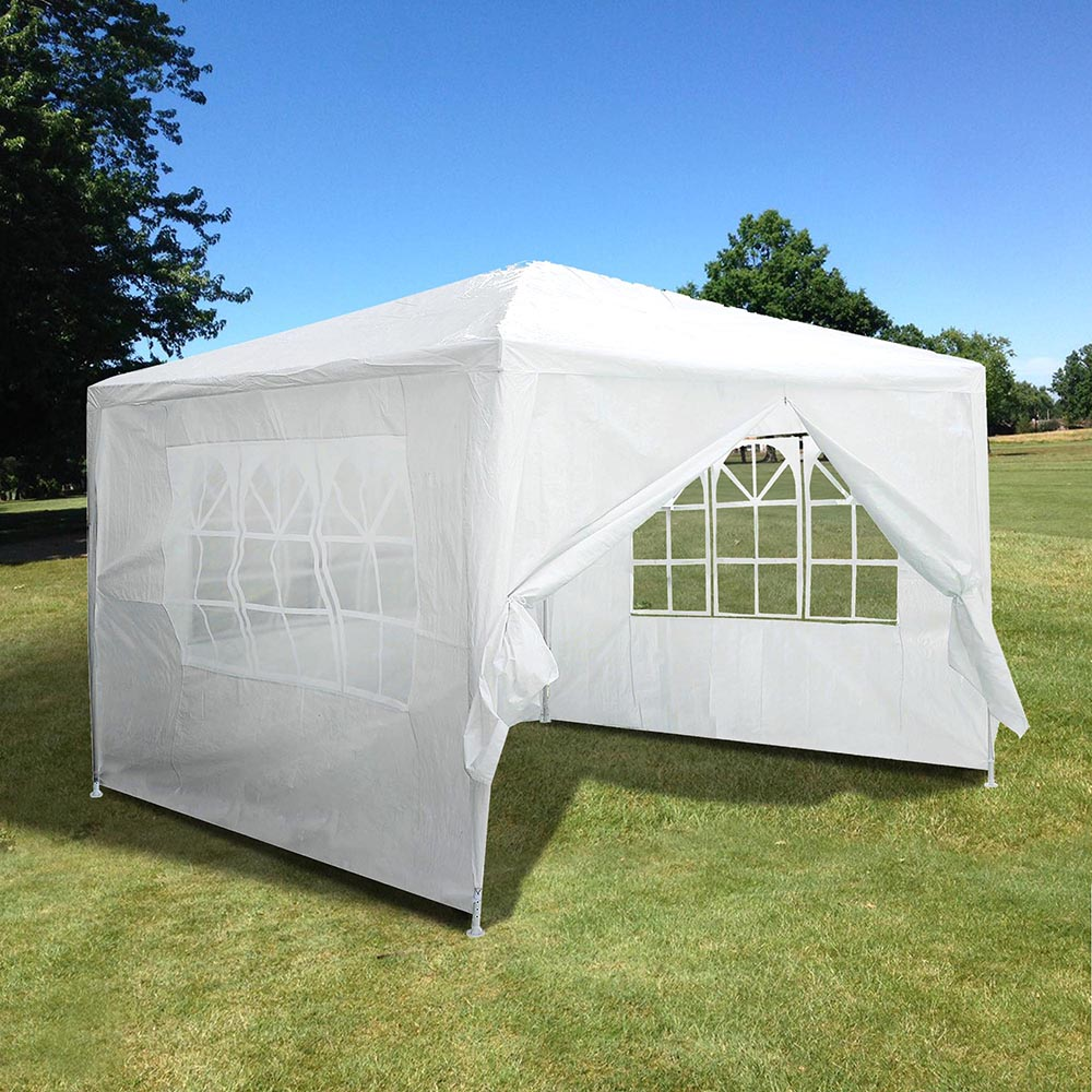 X10 Outdoor Lighting: 10'x10' Outdoor Party Wedding Tent Patio Canopy W/4 Side