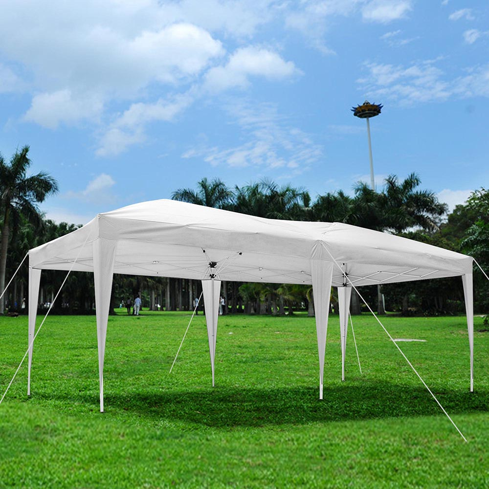 10 39 x 20 39 outdoor ez pop up canopy party wedding party tent pavilion cater event ebay. Black Bedroom Furniture Sets. Home Design Ideas