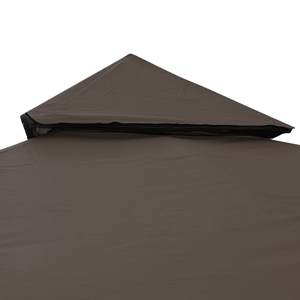 10'x10' 2-Tier Gazebo Top Replacement Canopy Outdoor ...