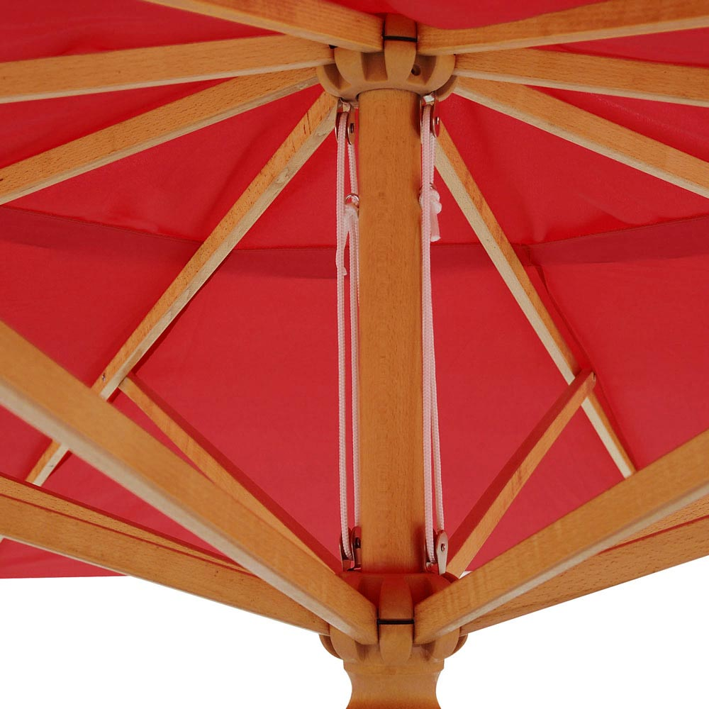 13 Ft Patio Wood Umbrella German Wooden Pole Outdoor Beach
