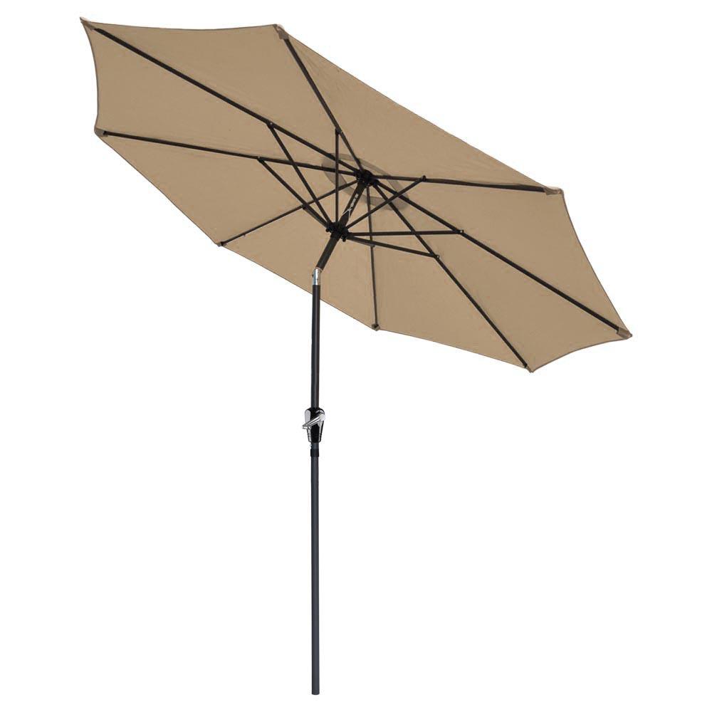 Patio Umbrella Bracket: 9' Ft Aluminum Outdoor Patio Umbrella Market Yard Beach W